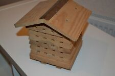 Wooden Solitary Bee or Insect Nesting Hive  Box - #PW