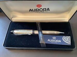 AURORA KUGELSCHREIBER B34 Sterling Silber 925, Serie Ipsilon, Top
