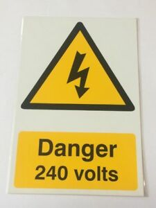 PVC Safety Signs 200mm x 300mm Semi Ridged Adhesive