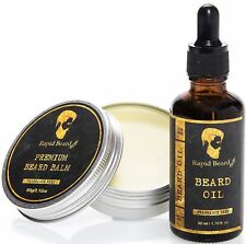 Beard Oil and Beard Balm Kit for Men Care - Unscented Leave in Beard Conditioner