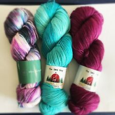 Hand Dyed Superwash Merino Wool Nylon Sock Yarn Lot