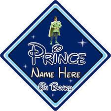 Personnalisé disney prince à bord voiture signe – la princesse & la grenouille naveen db