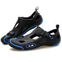 Mens Women Hollow Breathable Bathing Sandals Pool Barefoot Slip-Ons Water Shoes