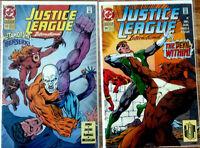 Justice League International #53-54 - Jones, Jacobs - DC 1993 - 9.2 NM-