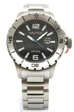 New Nautica Stainless Steel Date Men Dress Watch 45mm N18615G $185