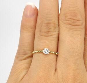 Wert 530 € Brillant Ring (0,10 Karat) in 750er 18 K Gelbgold Größe 56