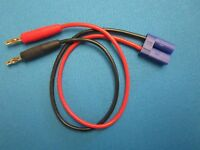 EC5 MALE CHARGE LEAD 14AWG TO 4MM BANANA PLUG CONNECTOR BATTERY CHARGE CABLE