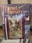 """Crewel Tapestry Kit 3002 Swiss Village Opened Complete Kit 24"""" x 42"""""""