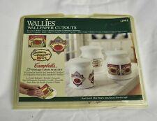 Wallies Wallpaper Cutouts Vintage Campbell's 25 Labels Kitchen Decor