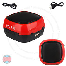 New Wireless Bluetooth Hands-Free TF Mini Red Speaker For Smartphone Tablets