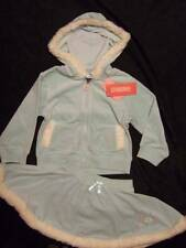 NWT Gymboree PRINCESS SNOW DROP blue velour hoodie & skirt faux fur ~ girls 3 3T