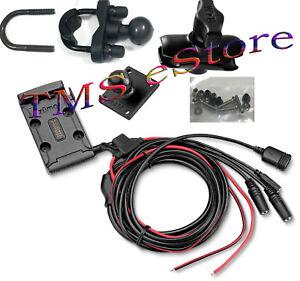 Garmin zumo 590LM 595LM Motorcycle Handlebar Mount Kit w/ Power Cable RZ-1211000