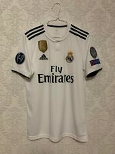 Adidas Real Madrid Home Soccer Jersey 2018-2019 Champions Patches Size S