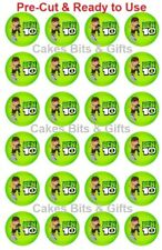 24 x BEN 10 Pic.1 Edible Wafer Cupcake Toppers PRE-CUT Ready to Use