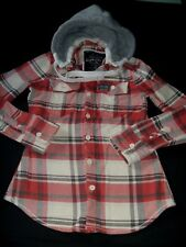 #4604 SUPERDRY Hooded Flannel Shirt Size Medium