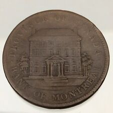 1842 Canada Bank of Montreal One 1 Penny Copper Circulated Token Coin B405