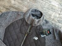 New Balance men's medium full zip fleece sweater light athletic jacket