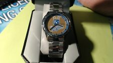 Kansas City Royals Game Time  Wrist Watch ADULT SILVER BAND NEW IN BOX