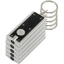 5 PIEZAS Mini Luz Superbrillante LED Acampada linterna Ring Llavero Negra