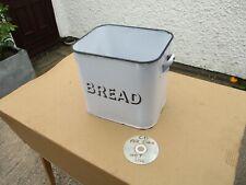 More details for original vintage enamel bread bin. free delivery.