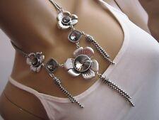 STRASS Collier Damen Hals Kette kurz Modekette Silber Glitzer Statement Blogger