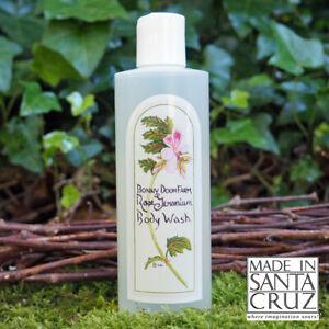 Made in Santa Cruz classic Bonny Doon Farm Rose Geranium 8oz. Body Wash
