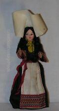 "Vintage Croatia Bride Girl Costume Souvenir Doll 7.5"" Tall Dubrovnik"