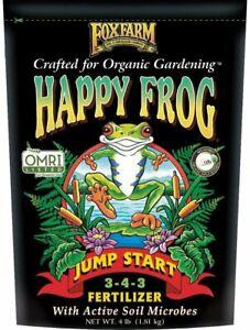 Foxfarm OMRI Happy Frog Jump Start Fertilizer 3-4-3 4 Lb. Bag