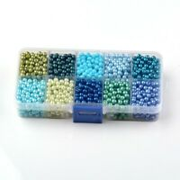 10mm Mixed Pearlized Round Glass Pearl Beads Mixed Color for Jewelry Making