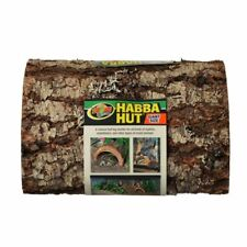 """New listing Zoo Med Habba Hut Natural Half Log with Bark Shelter Giant (11""""L x 9.5""""W x 5."""