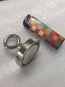 Magnet  68kg/93gr, D-42mm mit Ösen Topfmagnet Fisch Magnet Suchmagnet