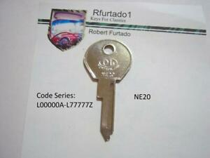 Key blank for Vintage Simca Renault Fiat ignition 1960's 1970's (see code series