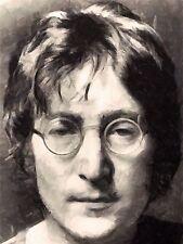 Art Print Poster Painting Portrait Legendary Beatles Singer John Lennon Nofl0090