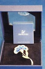 Retired Genuine SWAROVSKI Swan Signed Flower BROOCH PIN