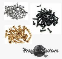 12, 25 or 50 Screws Pickguard/Control/Backplate Strat/TeleP,J Bass Choose Colour