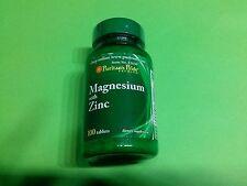 Magnesio con Zinc 100 comprimidos PURITAN´S PRIDE