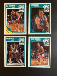 1989/90 Fleer Charlotte Hornets Team Set 4 Cards
