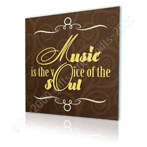 Quote Music The Voice Of The Soul by Alonline DSN | Canvas (Rolled) | Wall art