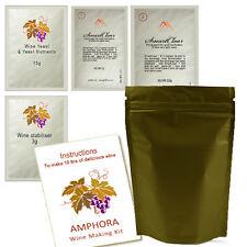 Wine Making Kit AMPHORA 10L Red Wine 10-12 Days Mixed Dried Grape & Fruit Powder