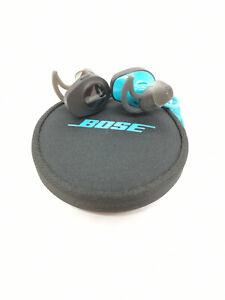 Genuine Bose SoundSport Bluetooth Wireless In-Ear Earphones Headphones (Blue)