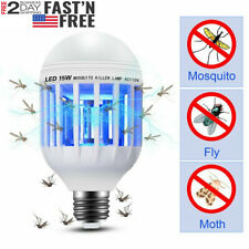 Bug Zapper Light Bulb Mosquito Lamp Fly Trap Killer Indoor Outdoor Insect UV Led