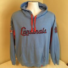 Majestic Cooperstown Collection Hoodie Sweatshirt St Louis Cardinals Blue Large