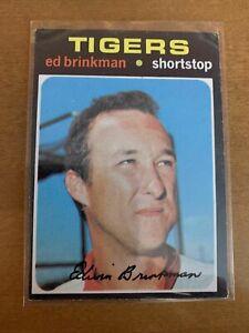 1971 Topps #389 Ed Brinkman Detroit Tigers Baseball Card