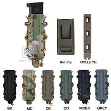 KRYDEX Tactical 9mm Pistol Mag Pouch MOLLE & Belt Clip Mag Carrier Hard Shell