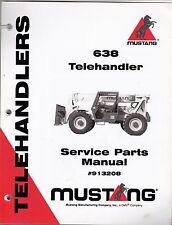 Mustang 638 Telehandler Forklift Parts Manual