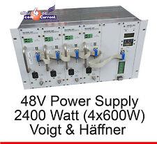 4x 600WATT 2400W 48V 48 VOLT STROMVERSORGUNG VOIGT UND HAEFFNER MODULAR NETZTEIL
