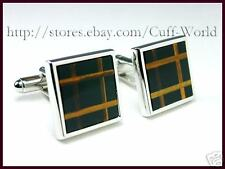 Onyx & Tiger Eye Stone Cuff Links cufflinks #C-98
