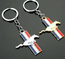 3D All Metal Car Emblem Keychain Key Ring For Ford mustang GT