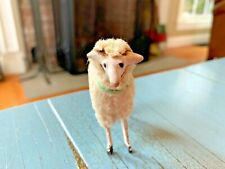 Putz Sheep Wooly Stick Leg Composition Antique Nativity Toy Germany German