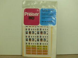 5896) Preiser 649 30649 ZIRCUS KRONE DECALS Plakate Abziehbilder NEU ORK